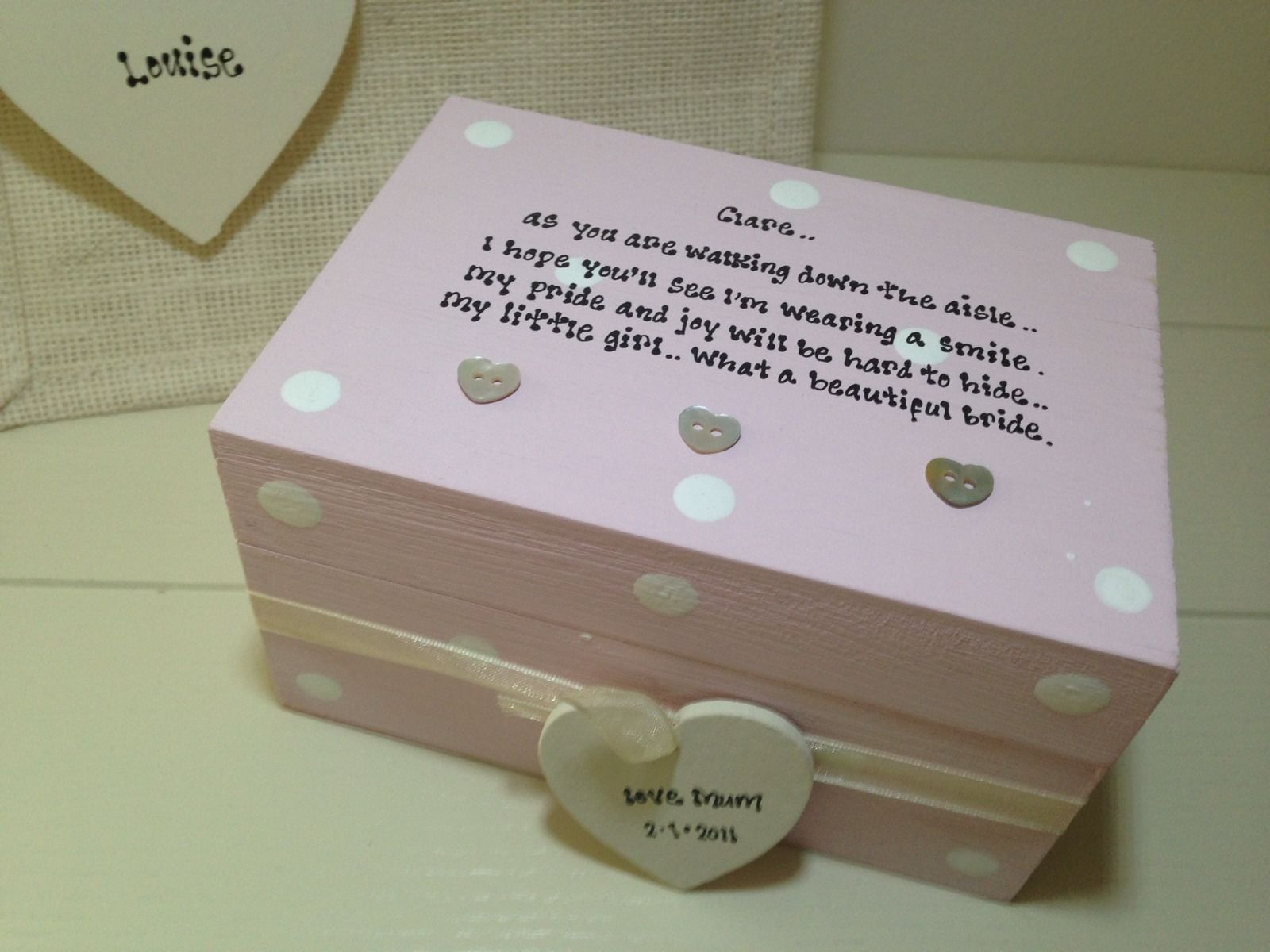 Shabby Personalised Chic Gift For The Bride From Mum